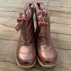 Cat & Jack Metallic Pink Himani Winter Boots
